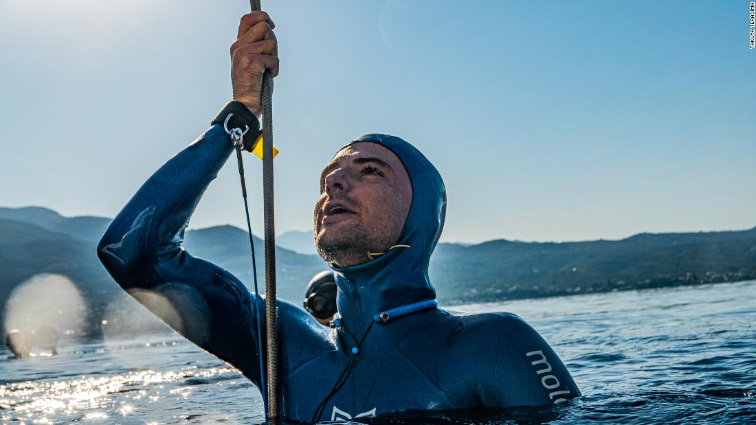 Record-breaking free diver explains the thrill of exploring ocean depths