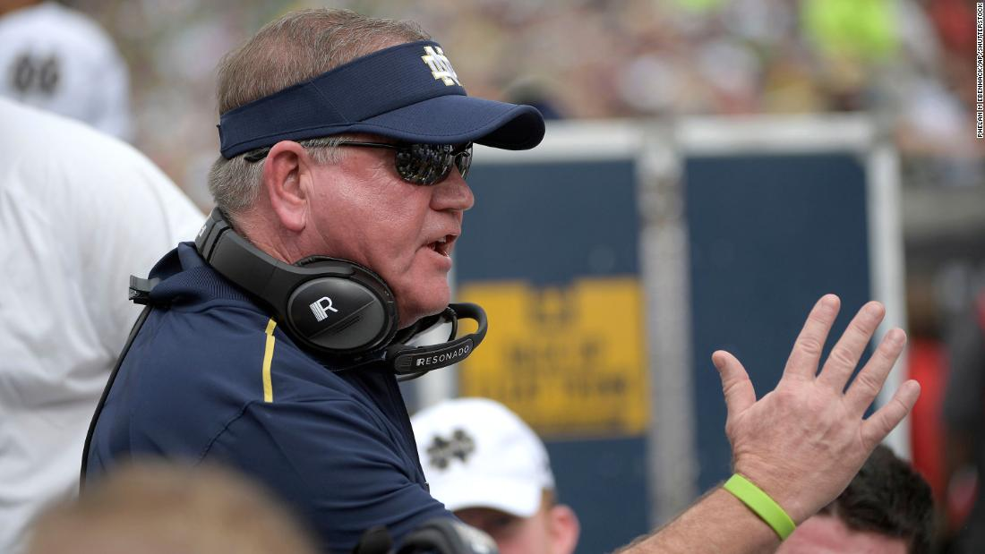 Notre Dame head coach Brian Kelly says Covid-19 'spread like wildfire' on his team – CNN