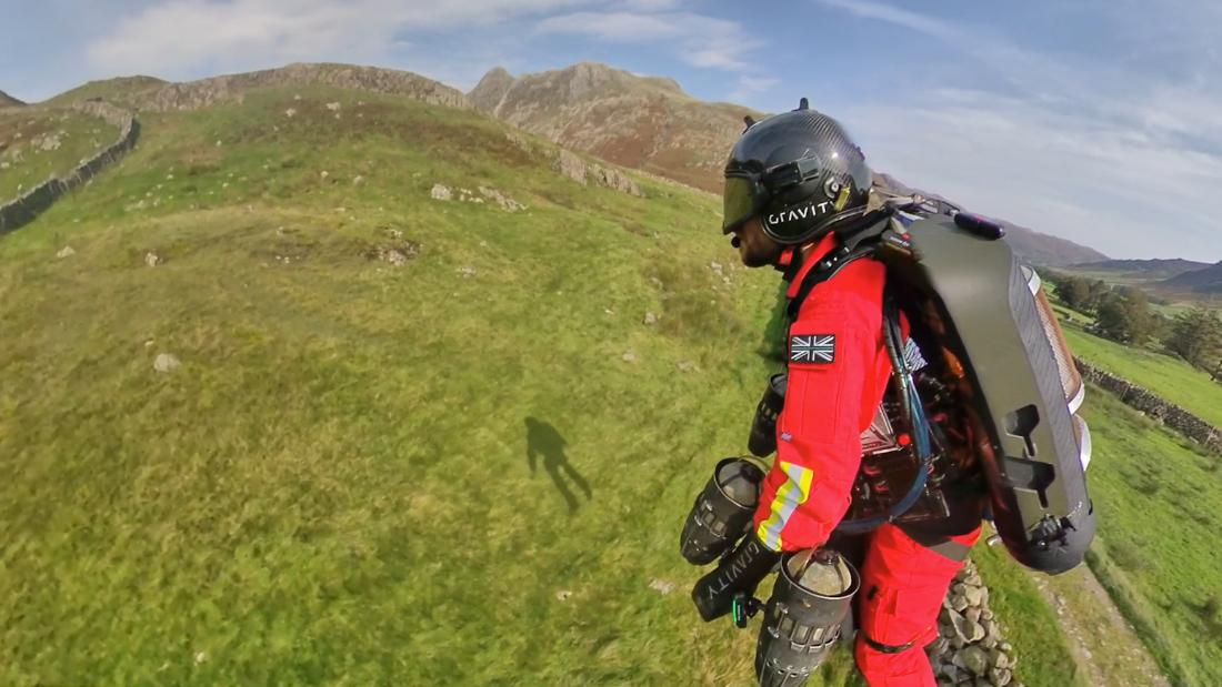 See paramedics test a jet suit that can fly up mountains
