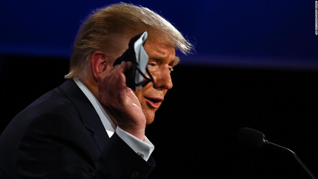 Analysis: Trump completely whiffed on his debate mask answer