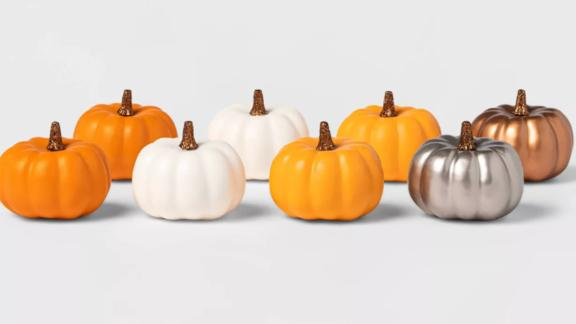 Spritz Harvest Solid Color Mini Decorative Pumpkin, 8-Count