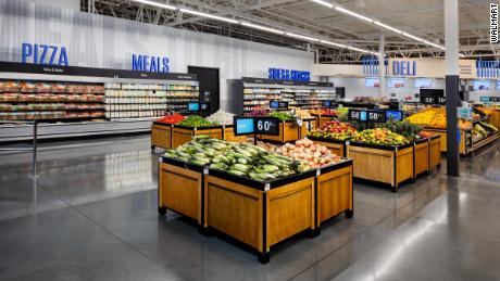 Inside the new Walmart.