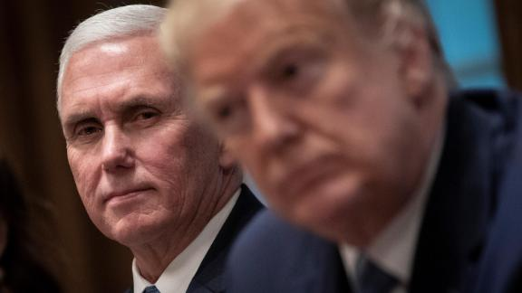 Pence and Trump attend a December 2019 meeting about the Governors Initiative on Regulatory Innovation.