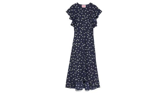 Daisy Toss Flutter Sleeve Dress