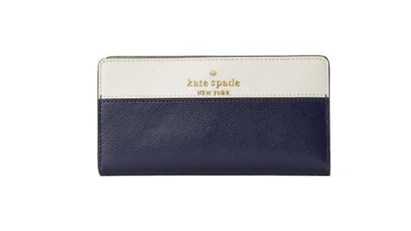 Staci Colorblock Large Slim Bifold Wallet