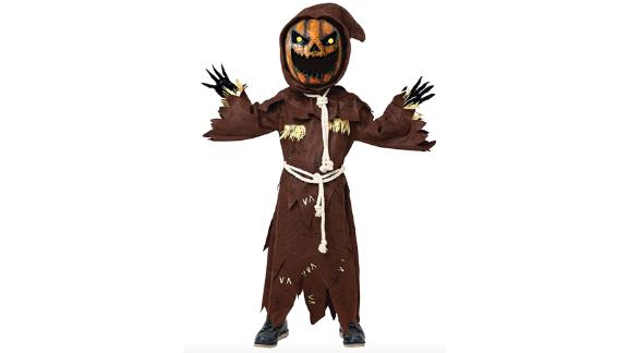 Scary Scarecrow Pumpkin Bobblehead Costume