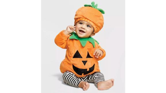 Baby Pullover Pumpkin Costume With Hat