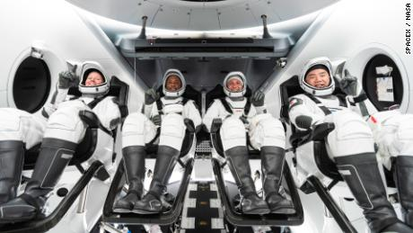 SpaceX mission: four astronauts return from five-month ISS mission