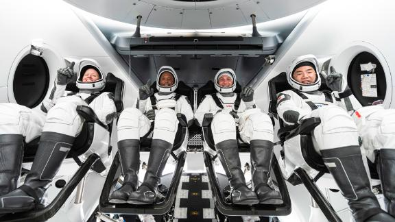 Image for NASA astronauts can't wait to leave Earth for SpaceX mission