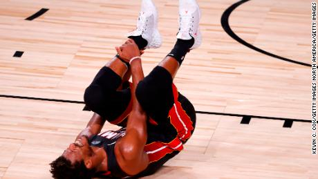 Jimmy Butler was one of the three Miami Heat stars to go down with injury, along with Goran Dragic and Bam Adebayo. Butler was able to return to the game in the third quarter after recovering from an ankle injury.