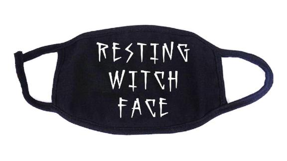 FoxyRoxyCo Resting Witch Face Cloth Face Mask