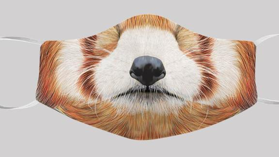 SeesanGeneralGoods Animal Face Masks, Red Panda