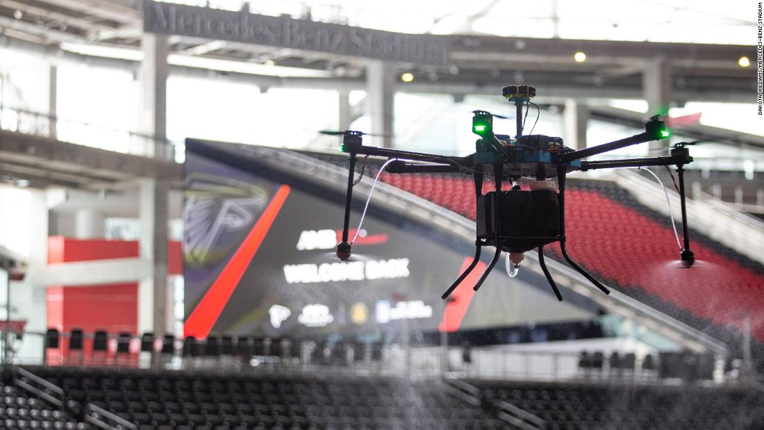 the-atlanta-falcons-will-use-disinfecting-drones-to-sanitize-the-teams-stadium-when-it-welcomes-back-fans-this-month