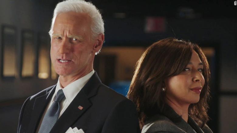 Jim Carrey and Maya Rudolph as Joe Biden and Kamala Harris in a promo for 'SNL.'