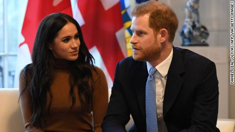 Harry and Meghan, pictured here in January 2020, were talking to a UK newspaper at the start of Black History Month.