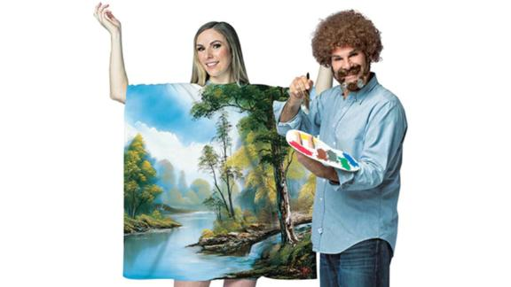 Bob Ross Kit and Dress Couples Costume