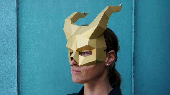 Wintercroft Demon Horns Papercraft Devil Mask