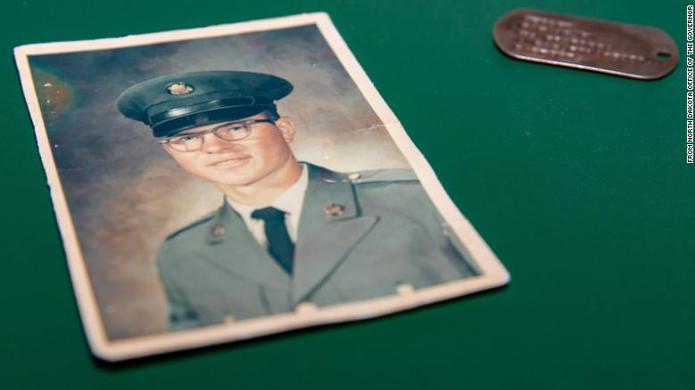 A Vietnam veteran's dog tag was returned to his widow after an American found it in Russia