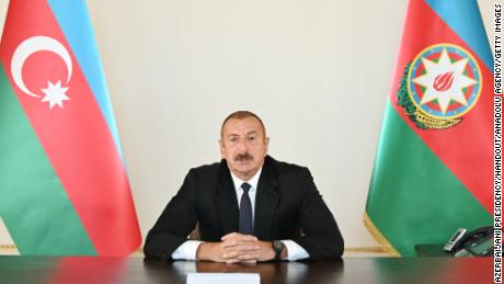 President of Azerbaijan tells Armenia to 'leave our territory, and then, the war will stop'