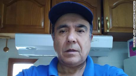 Juan Jose Martinez Camacho lost his job as a hotel cook in March after 22 years.