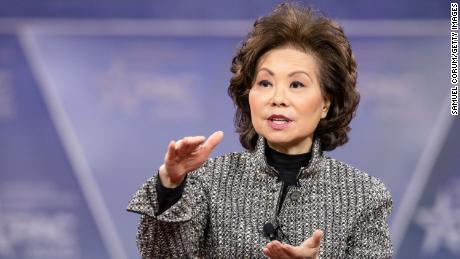 Secretary of the Department of Transportation Elaine Chao speaks during the Conservative Political Action Conference 2020 on February 28, 2020 in National Harbor, Maryland. (Getty Images)