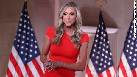 Lara Trump, daughter-in-law and campaign advisor for President Donald Trump, records her address to the Republican National Convention in August. North Carolina Republicans are waiting to see if she'll run for Senate.