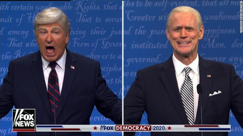 'SNL' returns with Alec Baldwin's Donald Trump taking on Jim Carrey's Joe Biden