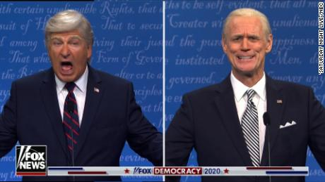 'SNL' returns with Alec Baldwin's Donald Trump taking on Jim Carrey's Joe Biden