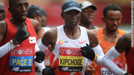 Kipchoge struggled in a race he has won on four previous occasions.