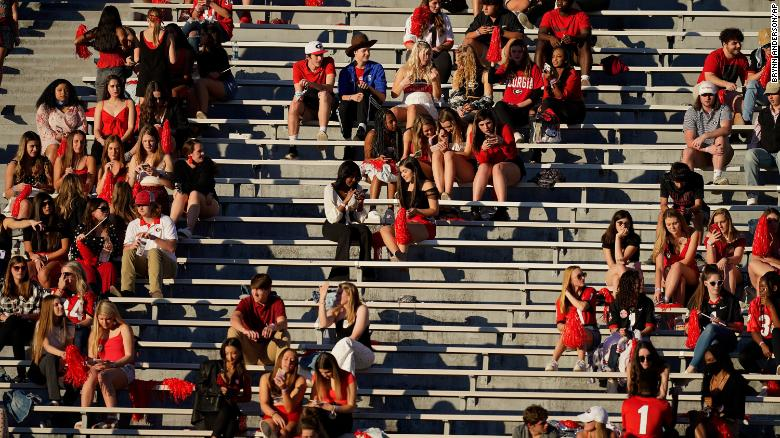Social media criticizes UGA fans for not wearing masks, but school says they were following guidelines