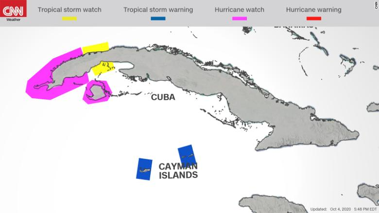 Hurricane watch issued as system brews in Caribbean