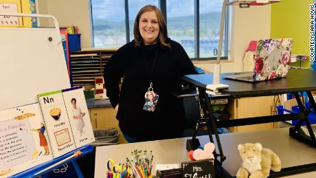 Kindergarten teacher Sara Hovis said despite the difficulties of remote learning, she has already seen her students blossoming and growing their academic skills.