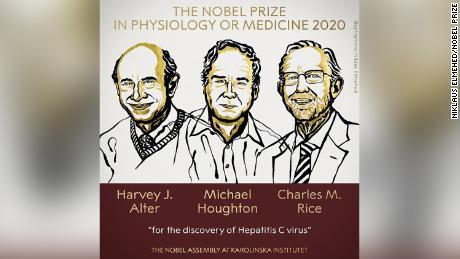 The 2020 Nobel Prize in Medicine was awarded at Sweden's Karolinska Institutet on Monday.