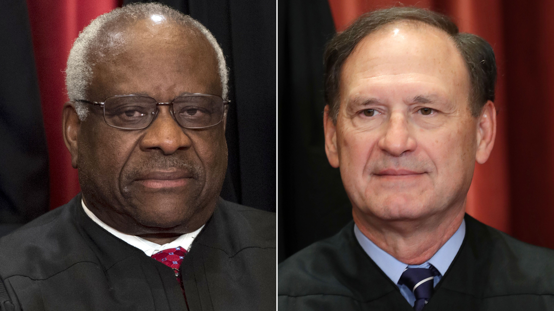 Justices Thomas and Alito lash out at the decision that cleared way for same-sex marriage
