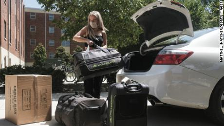 Incoming students began moving in on the Ohio State University campus on August 13.