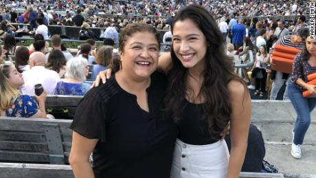 Martha Leonard (left) and her daughter are shown here at the Hollywood Bowl in July 2019.