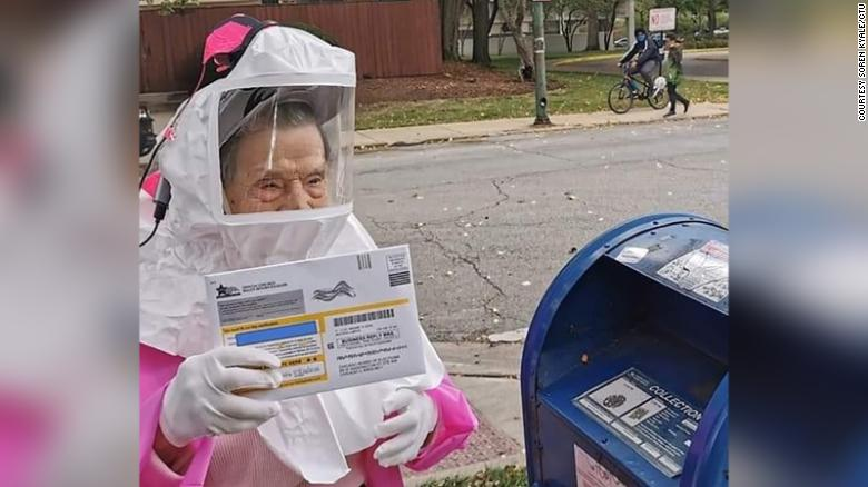 This 102-year-old retired teacher has never missed voting in an election. Here's why she wants you to vote this year