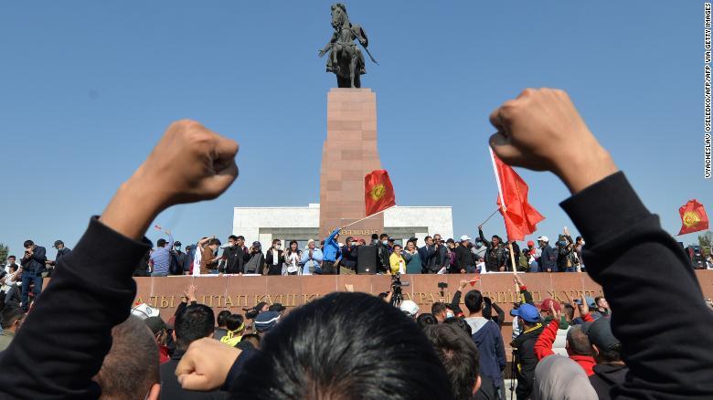 Post-election protests put Kyrgyzstan on brink of revolt
