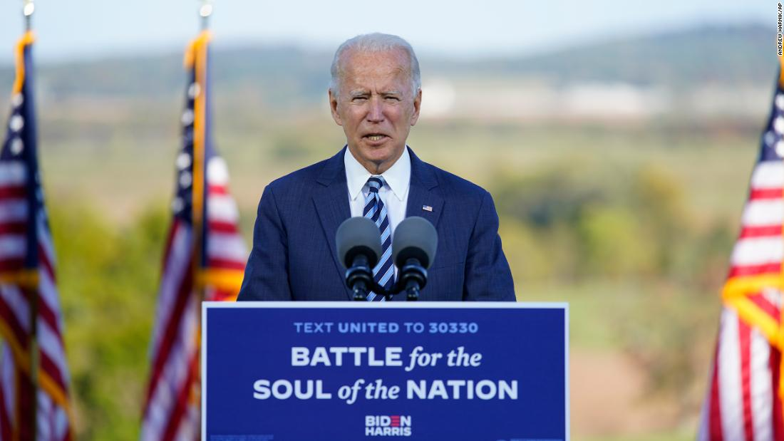 'A moment to put country above party': Biden makes appeal to disaffected Republican and independent voters – CNN