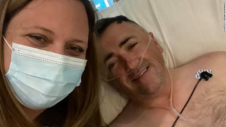 Megan and Zak Bornhoft at the hospital.