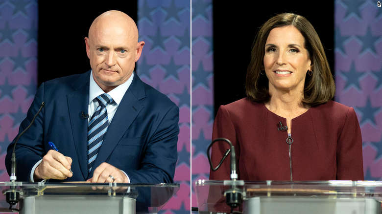 Arizona Senate debate turns on Trump