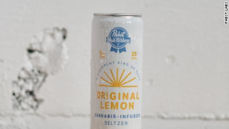 Pabst Blue Ribbon lent its name to this lemon-flavored sparkling water that's infused with 5mg of THC.