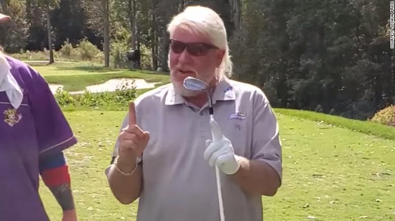 A barefooted John Daly drained a hole-in-one at a charity golf tournament, because of course he did