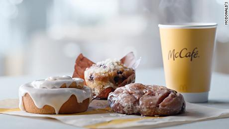 McDonald's is adding three new baked items to its McCafé lineup.