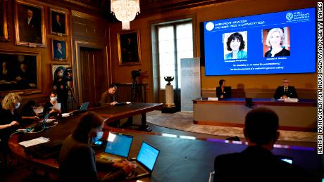 The 2020 Nobel Prize winners will be announced at the ceremony in Stockholm on Wednesday.
