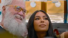 Kim Kardashian West (right) opens up to David Letterman (left) on his Netflix interview series.