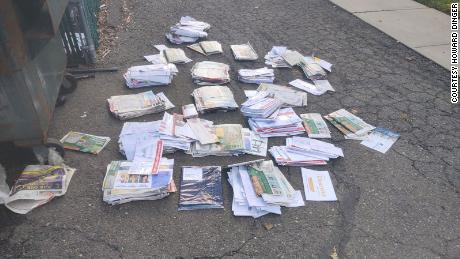 Mail containing ballots was found dumped in a dumpster in North Arlington, New Jersey.