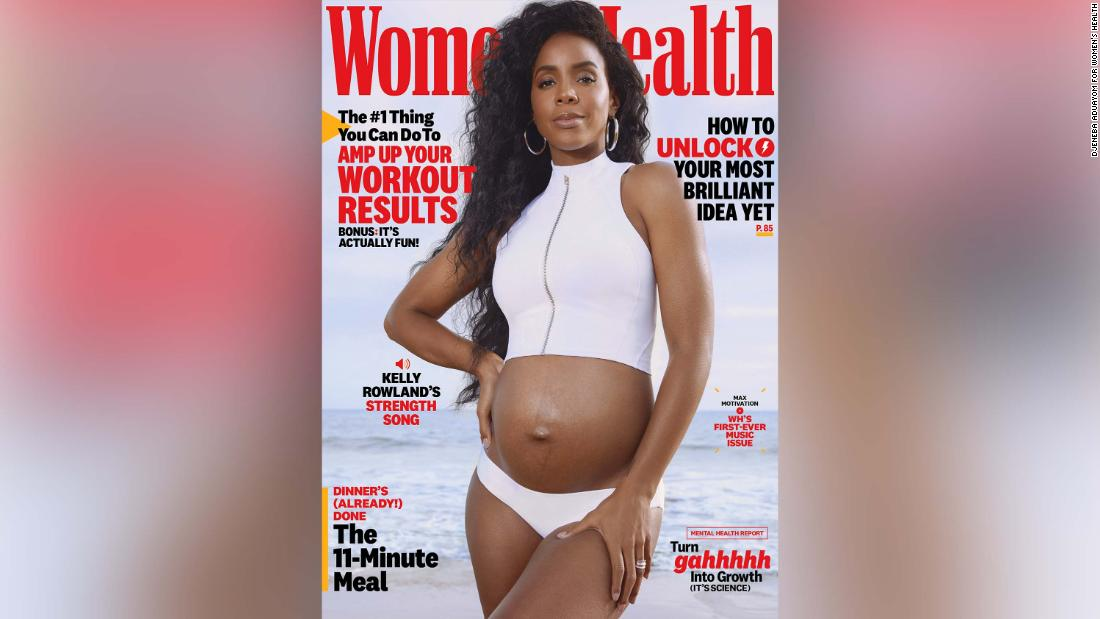 Kelly Rowland reveals pregnancy on Women's Health cover