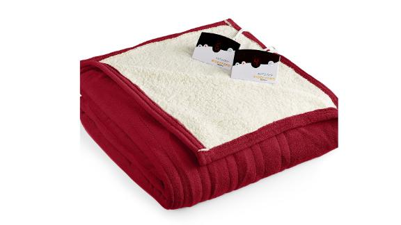 Biddeford Microplush Reverse Faux Sherpa Electric Blanket