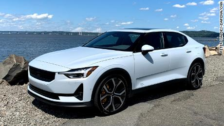 The fully-electric Polestar 2 is  a credible competitor to the Tesla Model 3.